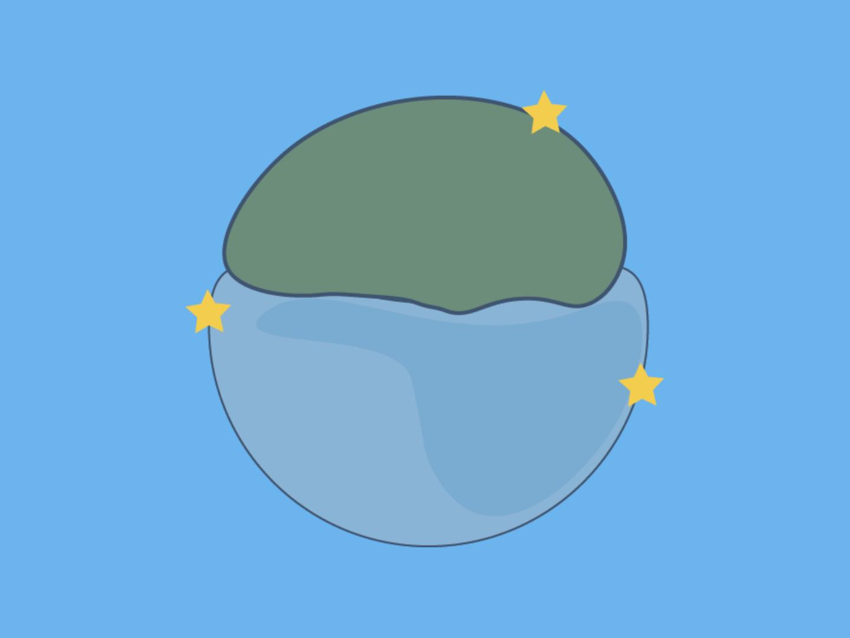 Shapes type illustration app icon ui website design