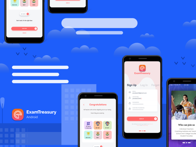 Educational App User interface and experience design