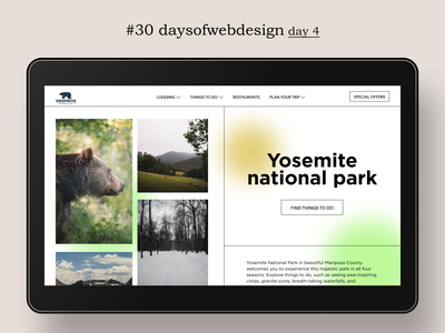 Yosemite national park redesign website landingpage concept website design minimal ux ui user interface webdesigner webdesign