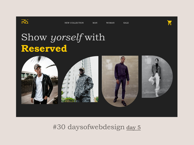 Reserved e-commerce main screen landingpage concept website design minimal user interface website ui ux webdesigner webdesign