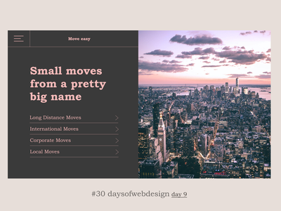 Moving is easy concept figma landingpage minimal website ui ux user interface webdesigner webdesign