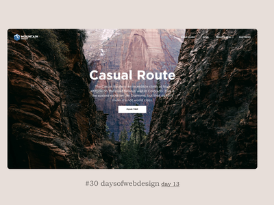 Casual Route minimal figma website design landingpage website ui ux user interface webdesigner webdesign