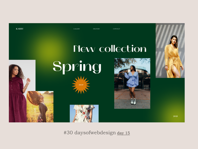 Spring design figma website design minimal ux ui website user interface webdesigner webdesign