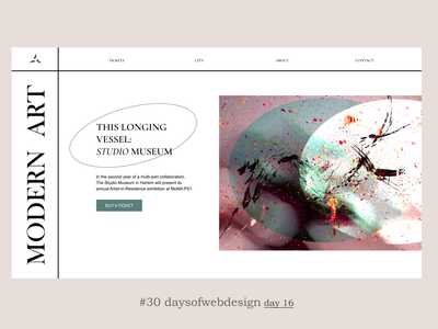 Modern art figma landingpage website design ux minimal website ui user interface webdesigner webdesign