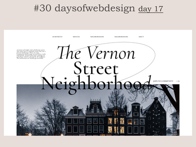Street Neighborhood concept landingpage website design minimal ui ux website user interface webdesigner webdesign