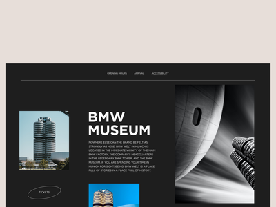 BMW Museum figma concept website design ui ux minimal website user interface webdesigner webdesign