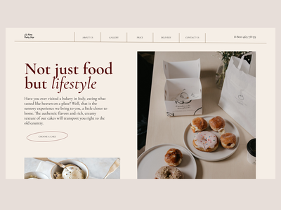 Pastry Shop landingpage minimal design ui user interface website ux webdesigner webdesign