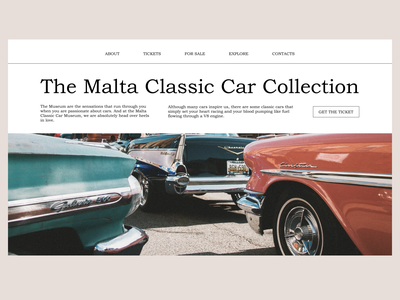 Classic Car Collection design figma concept landingpage website design ui minimal website ux user interface webdesigner webdesign