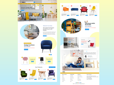 Exploration design of e-commerce Furniture Landing Page. website design web design ecommerce handmade interior table sofa chairs pepperfry ikea ui web design uidesigner uidesign ux designer furniture website furniture store furniture design