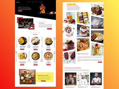 exploration of Restaurant landing Page Design userinterfacedesigner userinterfacedesign designinspiration interfacedesign interface uitrends web typography uidesign uidesigner illustration flatdesign ux designer webdesign food typography design typogaphy