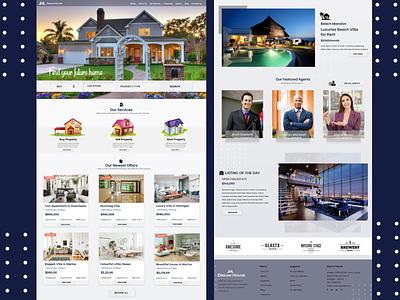 Real Estate UI / UX - Web Design webdesign house home uidesign minimalist vector illustration ux designer typography uidesigner flatdesign responsive realestate