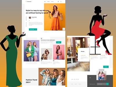 Fashion Lookbook Product Landing Page - UI / UX branding minimalist typography illustration webdesign ecommerce design ecommerce shop lookbook fashion