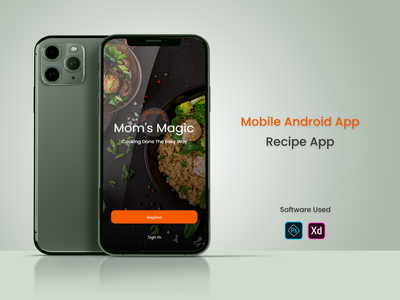 Mom's Magic Recipe UI / UX ios app design react native flutter uxdesign uikit uidesign recipe app food recipe