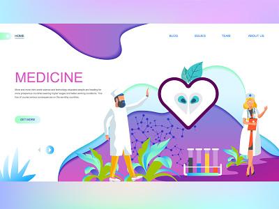 Medicine Landing Page Exploration typography ux-ui branding ux designer uidesigner uidesign minimalist flat illustration illustrator flatdesign ecommerce medic
