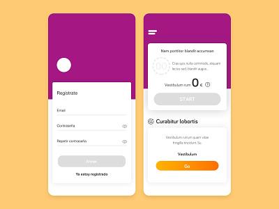 App Design interaction design app design ux ui