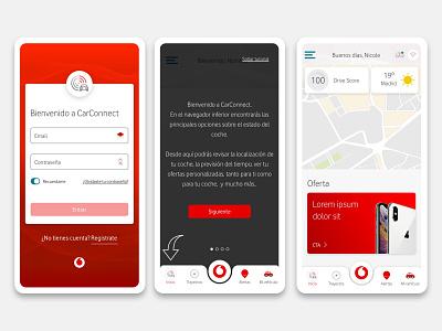Vodafone CarConnect interaction design app design ux ui