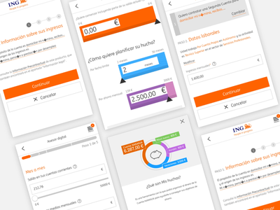 ING BANK ux interaction design financial app app design ui