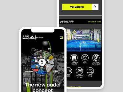 adidas Web Responsive responsive website web app design ux ui