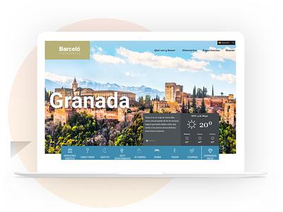 Barceló  Experiences Landing branding responsive website web app design ux ui