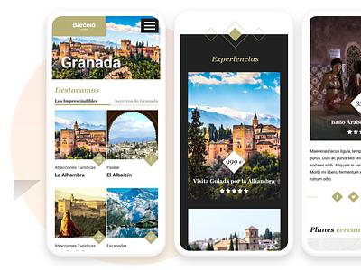 Barceló Experiences responsive website interaction design branding minimal web app design ux ui