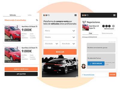 App for cars interaction design web app ui ux