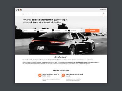 Cars website whitespace branding responsive website minimal interaction design web app design ux ui