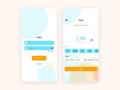 Send money white financial app branding minimal interaction design app design ux ui