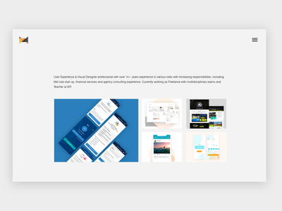 My new web-portfolio responsive website minimal interaction design web design ui