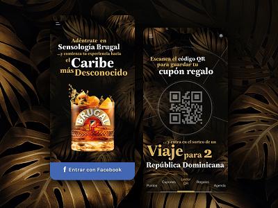 Brugal App marketing campaign marketing branding interaction design app design ux ui