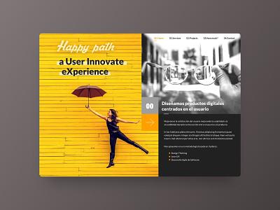 Happy path Studio branding web design ux ui