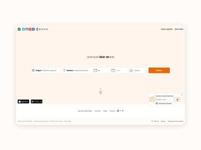 Ticket Finder white minimal interaction design web ux design ui