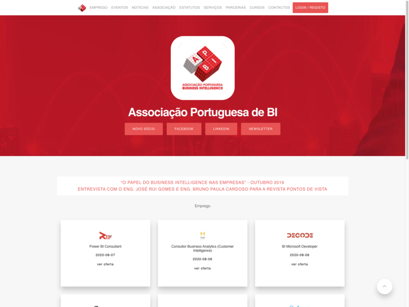 Associação Portuguesa de BI design branding modern clean
