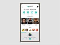 Jiosaavn App UI