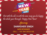 Happy New Year 2020 bootstrap html css webdesigner webdesign adobe photoshop graphic  design dribbble graphic designer new banner 2020 trend 2020 happynewyear happy new year new year