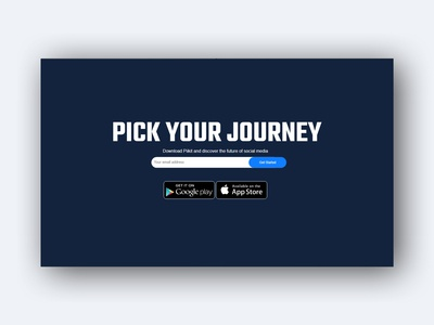 App Landing page top section