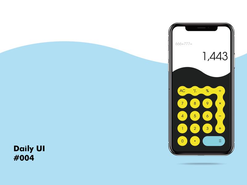 Daily UI challenge#004 Calculator ui design dailyui illustration