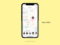 Daily UI challenge#020 Location Tracker