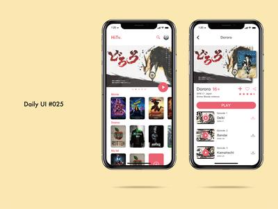 Daily UI challenge#025 TV app