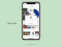 Daily UI challenge#026 Subscribe