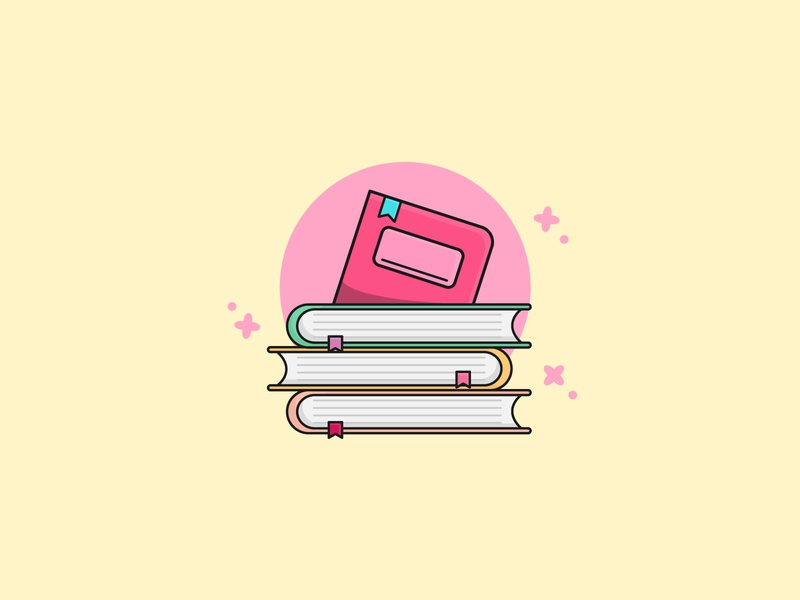 Pile of Books Flat Illustration graphic resources design for sale reading school books book digital art digital illustration illustration digital illustration design illustrations illustration soft colors flat illustration flat design flatdesign simple illustration simple