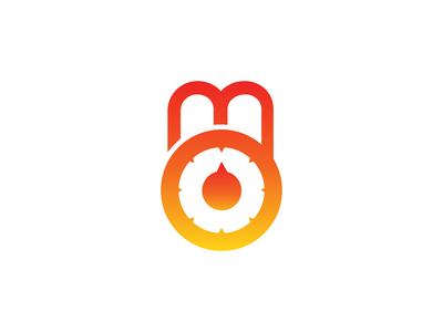 M Padlock Logo