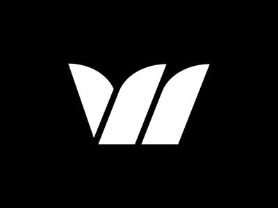 W Lettermark Logo Black and White