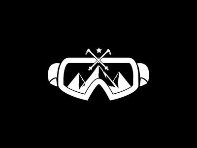 Ski Gear Shop Logo (Black and White)