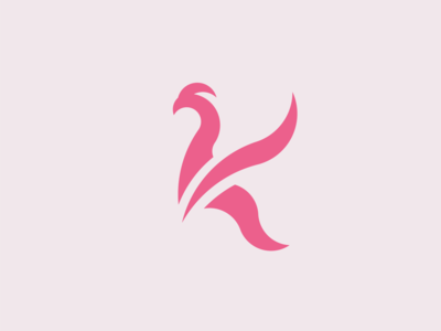 Bird K Lettermark Logo