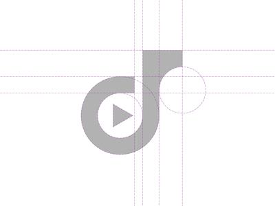 D Play Lettermark Logo Grid