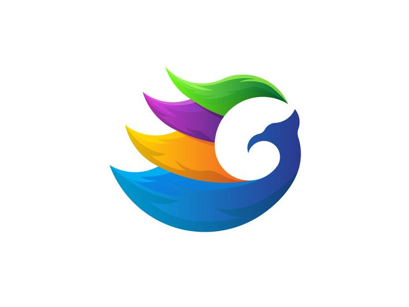 G Colorful Phoenix Logo animal logo logo daily logo a day colorful logo for sale abstract logo abstract mark logo designer logo mark logo inspiration logo inspirations logo g g logo bird logo phoenix logo colorful logo logos logo design logo