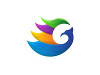 G Colorful Phoenix Logo