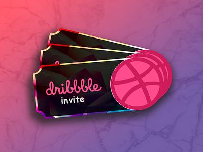 Dribbble tickets giveaway invite project invites tickets graphic  design graphicdesign ui ux branding illustration concept design