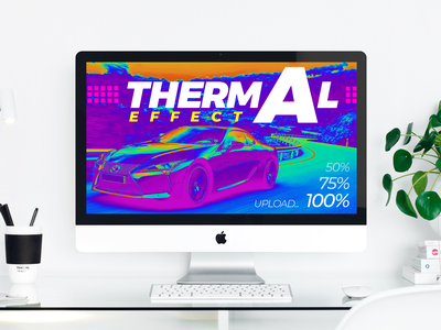 Thermal effect design cars thermal showreel typography portfolio vector graphic design graphic project concept ui ux design