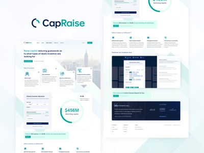 CapRaise - landing page for an investment SaaS marketplace fintech ux ui website landing page investment